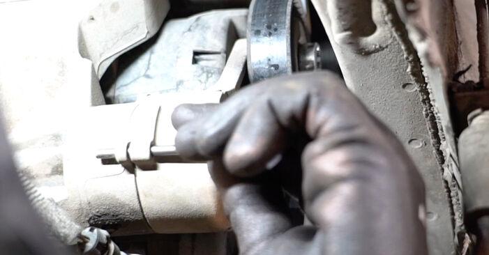 Keilrippenriemen Opel Meriva x03 1.4 16V Twinport (E75) 2005 wechseln: Kostenlose Reparaturhandbücher