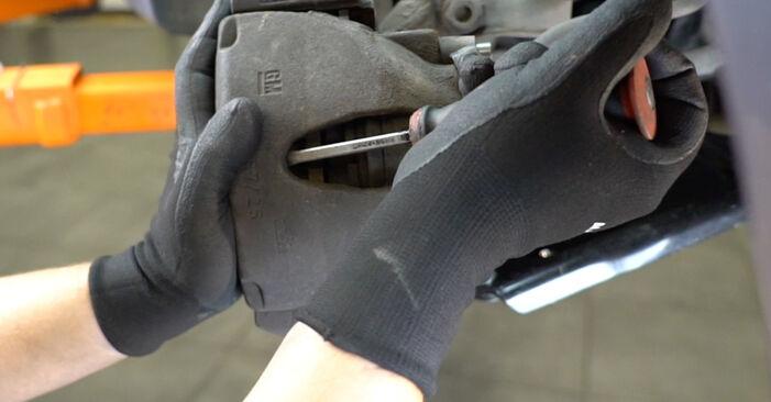Bremsscheiben Ihres Opel Meriva x03 1.6 16V (E75) 2003 selbst Wechsel - Gratis Tutorial