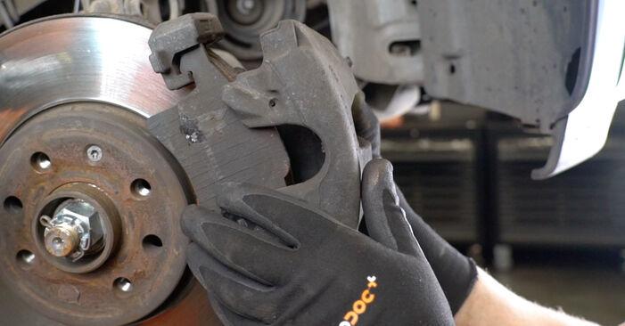 OPEL MERIVA 1.4 16V Twinport (E75) Bremsscheiben ausbauen: Anweisungen und Video-Tutorials online