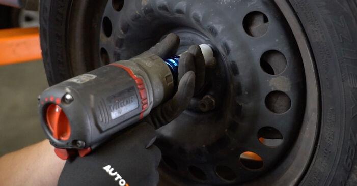 Opel Meriva x03 1.6 16V (E75) 2005 Stabdžių diskas keitimas: nemokamos remonto instrukcijos