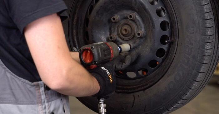 Wie VW PASSAT 1.6 2000 Bremsbeläge ausbauen - Einfach zu verstehende Anleitungen online