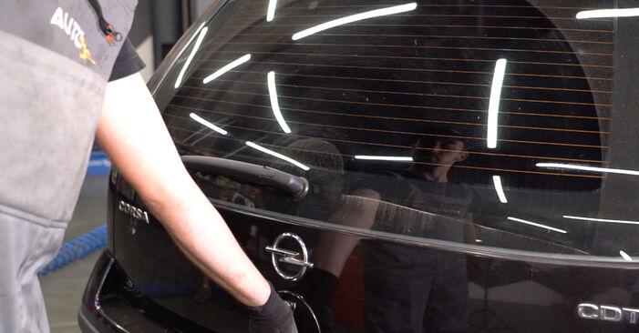 Remplacer Verin De Hayon sur Opel Corsa C 2000 1.2 (F08, F68) par vous-même