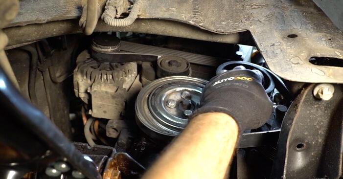 Como trocar Correia Trapezoidal Estriada no OPEL Corsa C Hatchback (X01) 2002 - dicas e truques