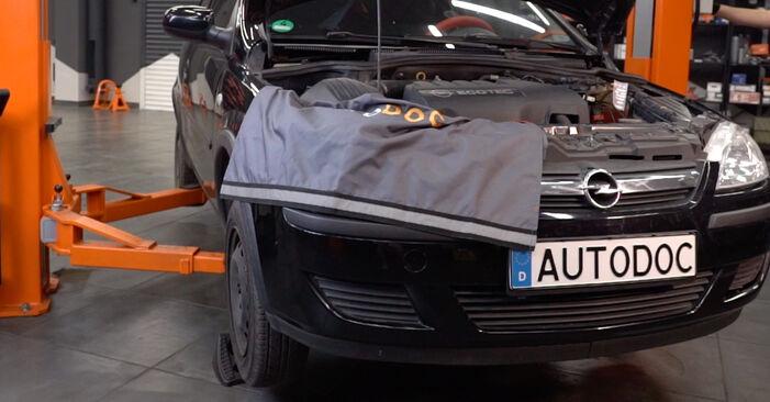 Wechseln Bremsbeläge am OPEL Corsa C Schrägheck (X01) 1.2 Twinport (F08, F68) 2003 selber