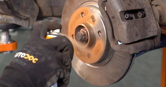 CLIO II (BB0/1/2_, CB0/1/2_) 1.4 2009 1.2 16V Bremsscheiben - Handbuch zum Wechsel und der Reparatur eigenständig