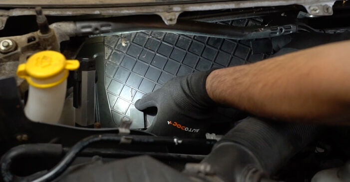 How to replace Pollen Filter on OPEL Meriva A (X03) 2008: download PDF manuals and video instructions
