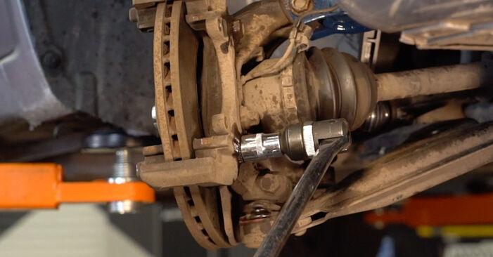 Schritt-für-Schritt-Anleitung zum selbstständigen Wechsel von Zafira b a05 2007 1.6 CNG (M75) Bremsscheiben