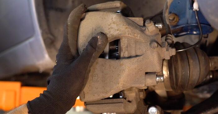 Zafira b a05 1.8 (M75) 2007 Pastiglie Freno sostituzione: manuali dell'autofficina