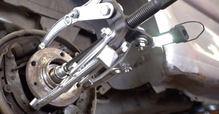 XSARA PICASSO (N68) 1.6 16V 2010 Wheel Bearing DIY replacement workshop manual