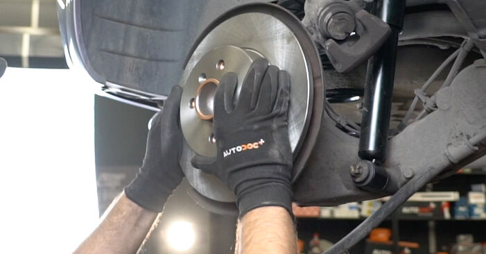 Changing Brake Discs on OPEL Meriva A (X03) 1.6 (E75) 2006 by yourself