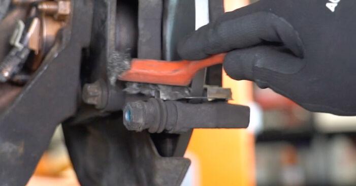 Meriva A (X03) 1.3 CDTI (E75) 2006 Brake Pads DIY replacement workshop manual