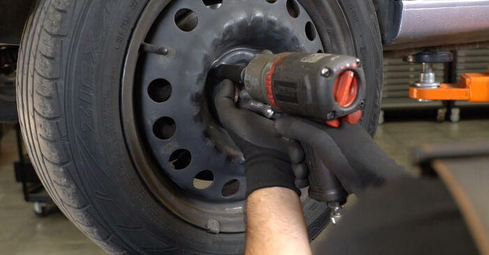 Changing Brake Pads on OPEL Meriva A (X03) 1.6 (E75) 2006 by yourself