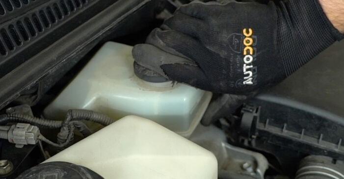 Så lång tid tar det att byta Bromsbelägg på Toyota Prius 2 2003 – informativ PDF-manual