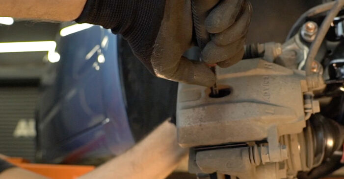 Wie schwer ist es, selbst zu reparieren: Bremsbeläge Toyota Prius 2 1.5 (NHW2_) 2001 Tausch - Downloaden Sie sich illustrierte Anleitungen