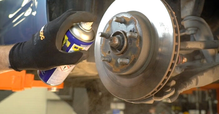 DIY replacement of Brake Discs on TOYOTA PRIUS Hatchback (NHW20_) 1.5 (NHW2_) 2003 is not an issue anymore with our step-by-step tutorial