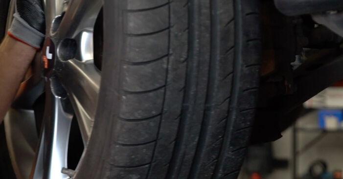 Austauschen Anleitung Bremsbeläge am Lexus RX XU30 2007 3.3 400h AWD selbst