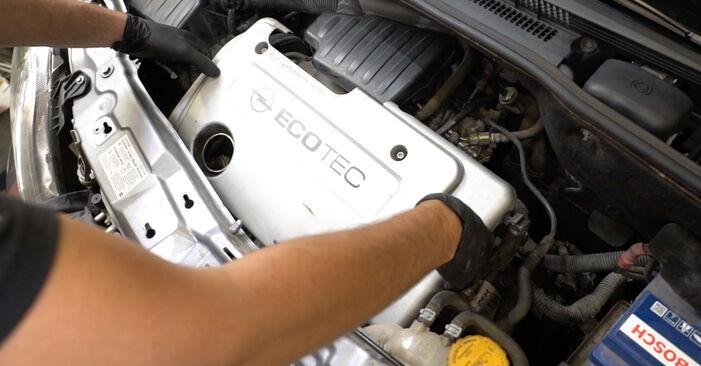 Kaip pakeisti Thermostat la Opel Meriva x03 2003 - nemokamos PDF ir vaizdo pamokos