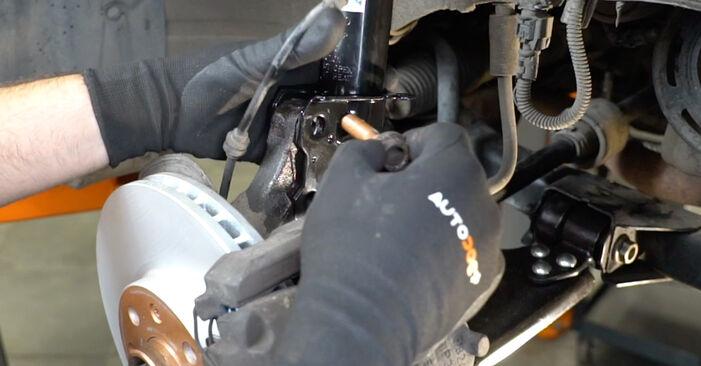 Wie schwer ist es, selbst zu reparieren: Stoßdämpfer Opel Meriva x03 1.7 DTI (E75) 2009 Tausch - Downloaden Sie sich illustrierte Anleitungen