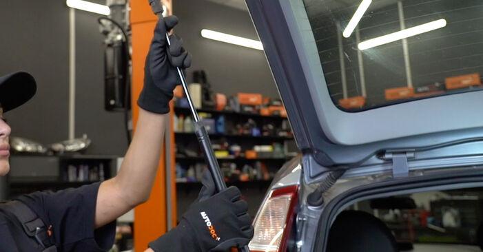 OPEL MERIVA 1.4 16V Twinport (E75) Heckklappendämpfer ausbauen: Anweisungen und Video-Tutorials online