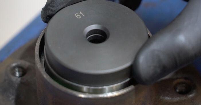 Üksikasjalikud soovitused iseseisvaks Mercedes W203 2005 C 200 CDI 2.2 (203.007) Rattalaager väljavahetamiseks