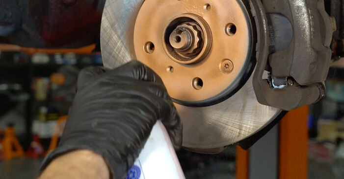 Changing Brake Pads on PEUGEOT 107 Hatchback (PM_, PN_) 1.4 HDi 2008 by yourself
