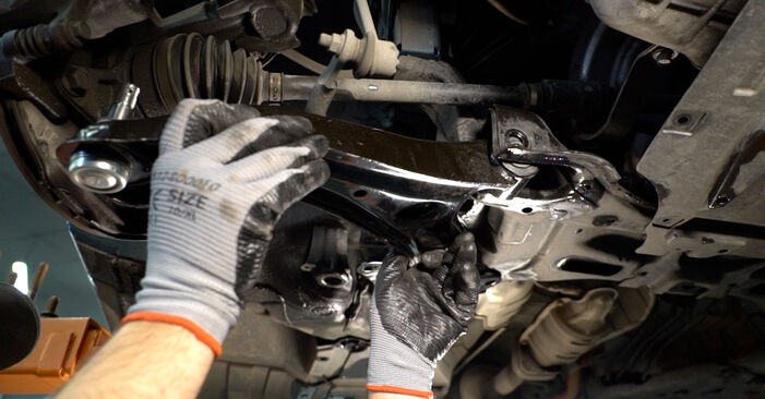 How to remove HONDA INSIGHT 1.3 Hybrid (ZE2) 2013 Control Arm - online easy-to-follow instructions
