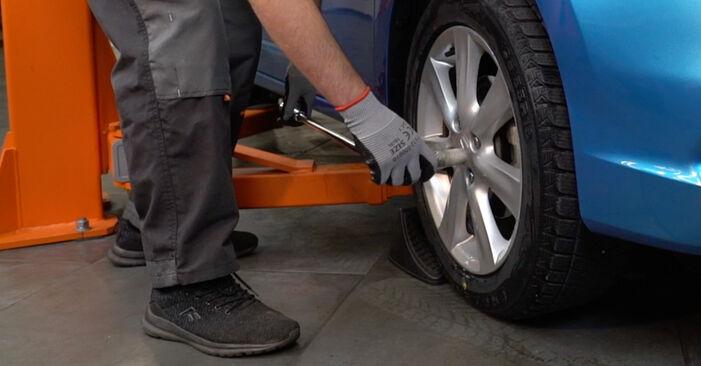 Bremsbeläge Honda Insight ZE2/ZE3 1.5 Hybrid (ZE3) 2011 wechseln: Kostenlose Reparaturhandbücher