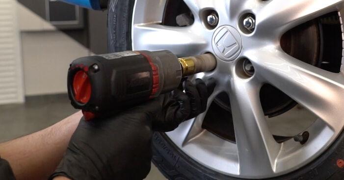 Wie HONDA INSIGHT 1.3 Hybrid (ZE2) 2013 Bremsbeläge ausbauen - Einfach zu verstehende Anleitungen online