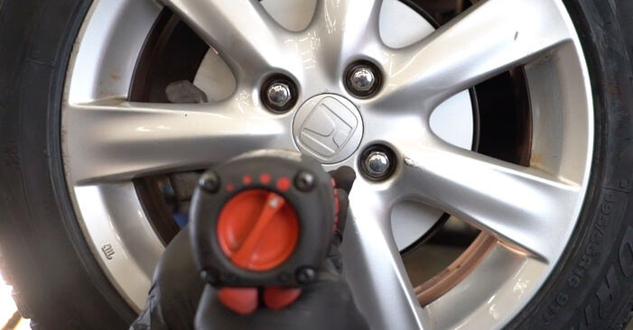 Wie Bremsscheiben HONDA INSIGHT (ZE_) 1.3 Hybrid (ZE2) 2010 austauschen - Schrittweise Handbücher und Videoanleitungen