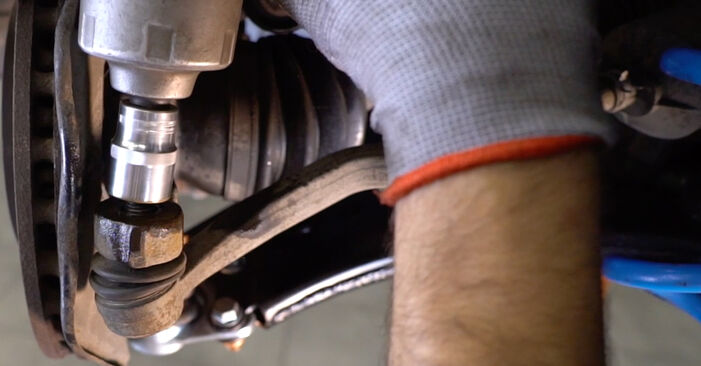 Wie schwer ist es, selbst zu reparieren: Spurstangenkopf Mercedes W245 B 180 1.7 (245.232) 2010 Tausch - Downloaden Sie sich illustrierte Anleitungen