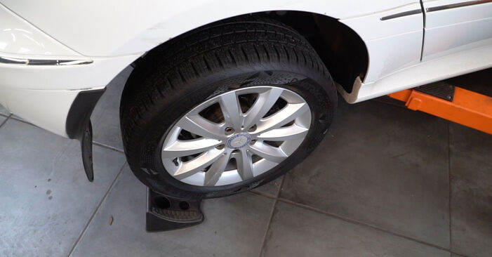 Changing Brake Discs on MERCEDES-BENZ B-Class (W245) B 200 2.0 (245.233) 2007 by yourself