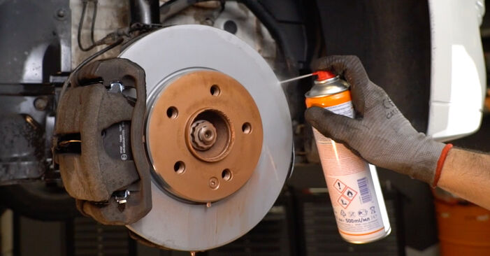 How to remove MERCEDES-BENZ B-CLASS B 150 1.5 (245.231) 2009 Brake Pads - online easy-to-follow instructions