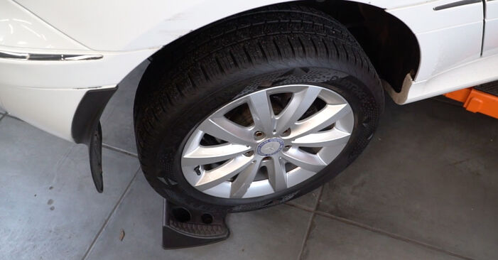 Changing Brake Pads on MERCEDES-BENZ B-Class (W245) B 200 2.0 (245.233) 2007 by yourself