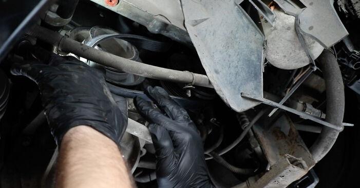 Zamenjajte Rebrasti jermen na Ford Fiesta V jh jd 2001 1.4 TDCi sami