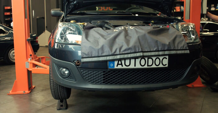 Come sostituire FORD Fiesta Mk5 Hatchback (JH1, JD1, JH3, JD3) 1.4 TDCi 2002 Cinghia Poly-V - manuali passo passo e video guide