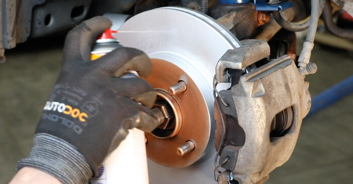 Step-by-step recommendations for DIY replacement Ford Fiesta V jh jd 2004 ST150 2.0 Brake Discs