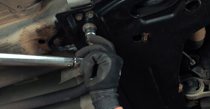 Changing of Control Arm on Ford Fiesta V jh jd 2009 won't be an issue if you follow this illustrated step-by-step guide