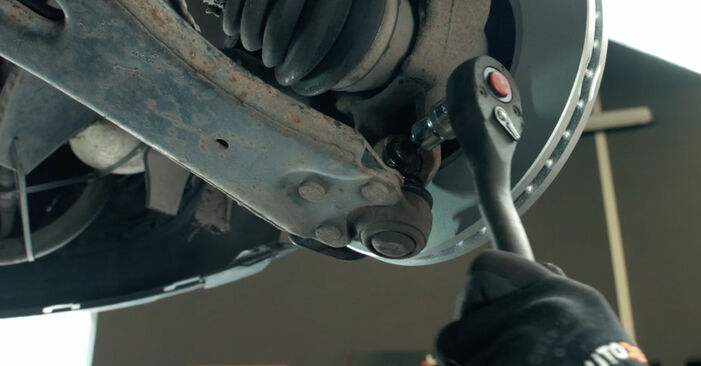 How hard is it to do yourself: Control Arm replacement on Ford Fiesta V jh jd 1.6 16V 2007 - download illustrated guide