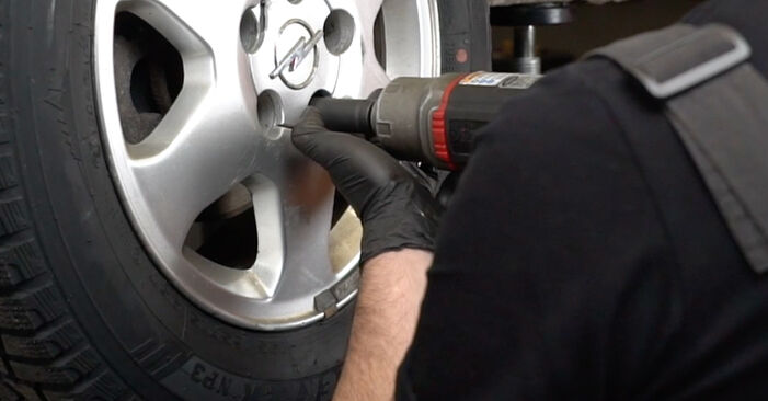 How to remove OPEL ZAFIRA 2.2 16V (F75) 2003 Brake Pads - online easy-to-follow instructions