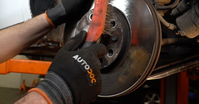 How to change Brake Discs on Opel Zafira f75 1999 - free PDF and video manuals