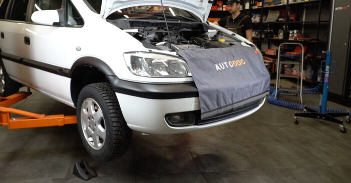 Changing Brake Discs on OPEL Zafira A (T98) 1.6 16V (F75) 2002 by yourself