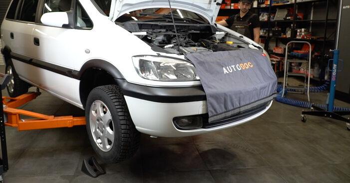 Opel Zafira f75 1.8 16V (F75) 2001 Testina dello Sterzo sostituzione: manuali dell'autofficina