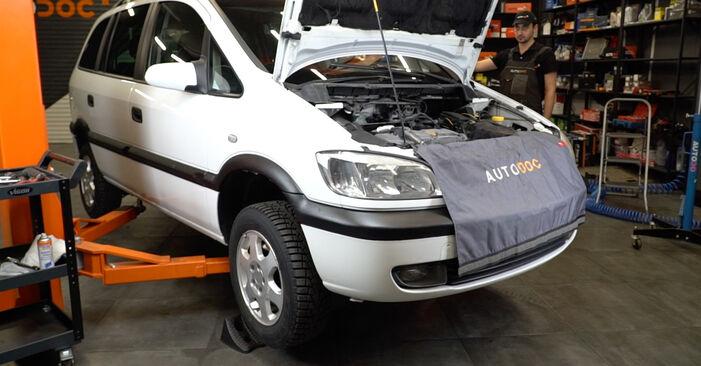 Opel Zafira f75 1.8 16V (F75) 2001 Courroie Trapézoïdale à Nervures remplacement : manuels d'atelier gratuits