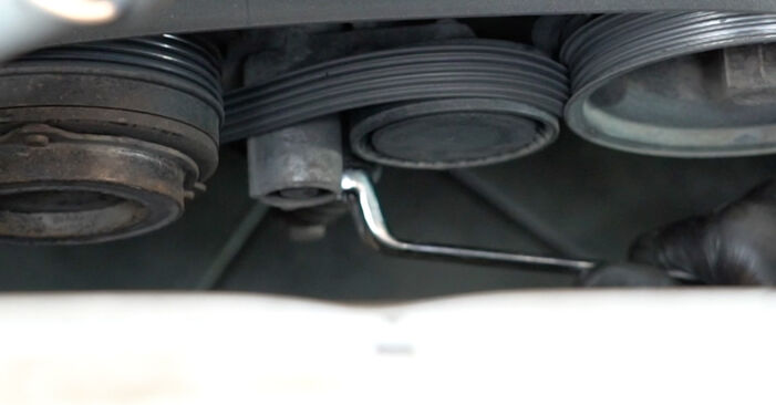 How hard is it to do yourself: Poly V-Belt replacement on BMW E39 525i 2.5 2001 - download illustrated guide