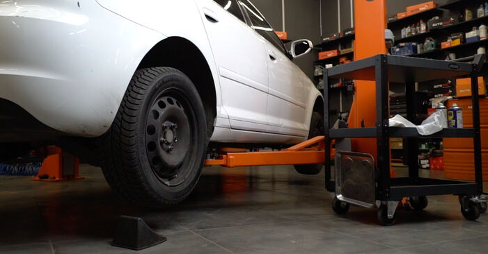 Changing Brake Discs on AUDI A3 Sportback (8PA) 1.6 TDI 2006 by yourself
