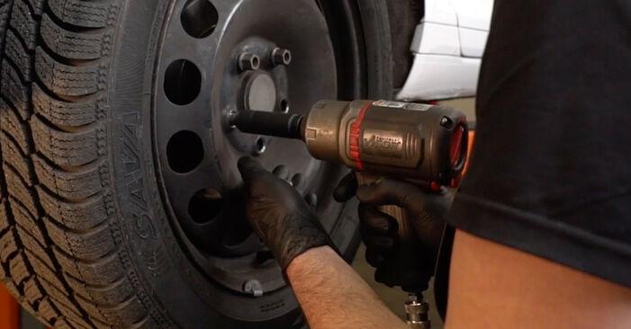 Wie AUDI A3 1.6 2007 Bremsbeläge ausbauen - Einfach zu verstehende Anleitungen online
