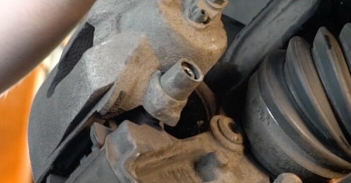 Vanskelighetsgrad: Bytte av Bremseklosser på Audi A3 8pa 1.4 TFSI 2009 – last ned illustrert veiledning