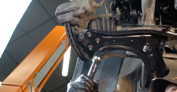 Wie kompliziert ist es, selbst zu reparieren: Querlenker am VW Polo 5 Limousine 1.4 TSi 2015 ersetzen – Laden Sie sich illustrierte Wegleitungen herunter
