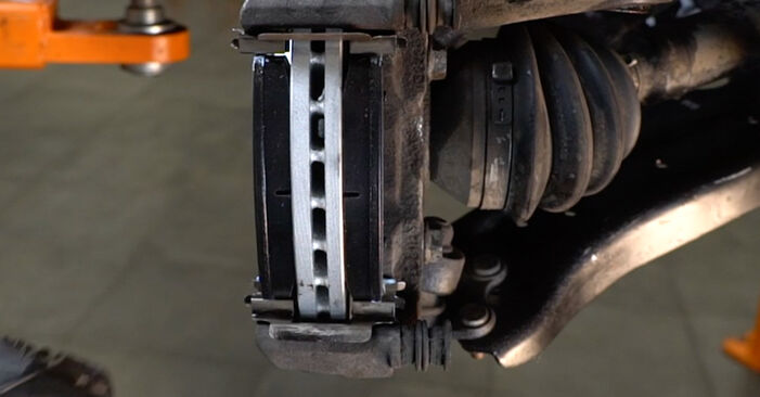 How to change Brake Pads on VW Polo 5 Saloon 2009 - free PDF and video manuals