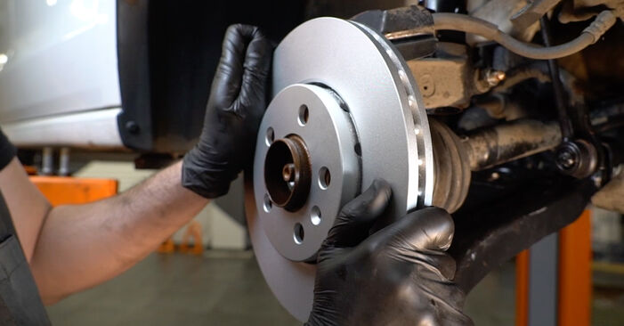Changing Brake Discs on VW Polo Saloon (602, 604, 612, 614) 1.2 TSI 2012 by yourself